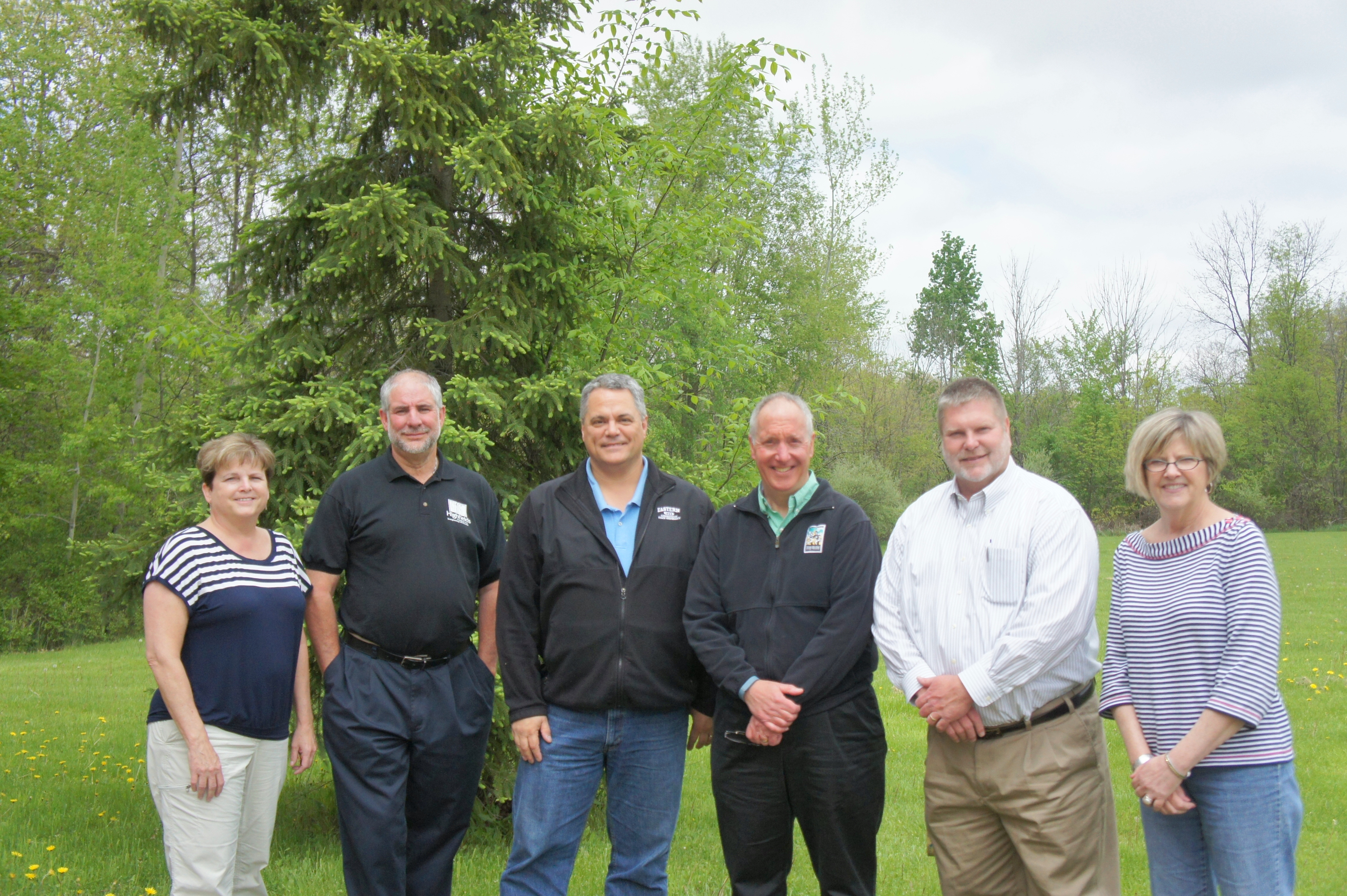 Our leadership team: Jill Clark, Derek Hitchcock, Edward St. John, Tim Monroe, Brian Philson and Beverley McGill.